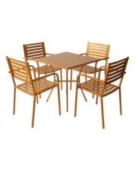 Градински метален комплект АМ-С015-141-1 Оранжев цвят