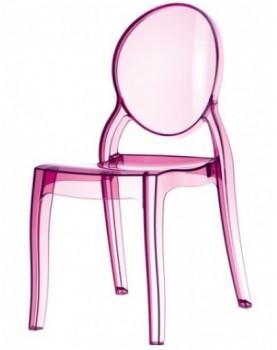 Стол Елизабет - розов прозрачен поликарбонат