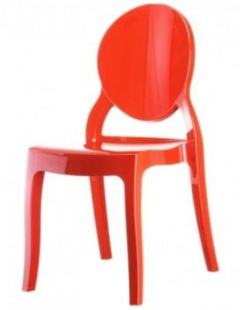 Стол Елизабет - червен поликарбонат
