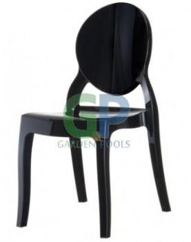 Стол Елизабет - черен поликарбонат