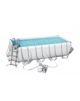 Bestway - Сглобяем басейн 4.88м/2.44м/1.22m.- пясъчен фил,стълба,покривало,подложка