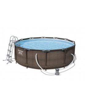 Bestway - Сглобяем басейн ратан 3.66м/1м - ф.помпа,стълба,кърт фил 58094 тип II