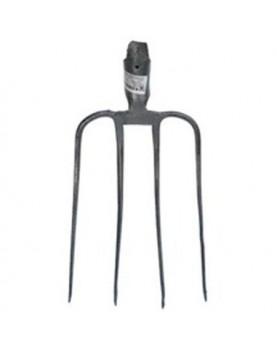 Вила 4 рога с отвор за дръжка,ф35мм (антикорозионно покритие)