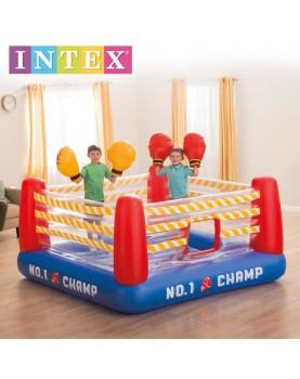Intex - Надуваем трамплин ринг с две боксови надуваеми ръкавици