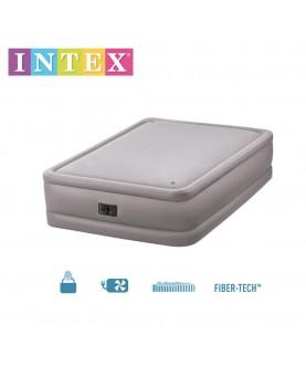 Intex - Надуваем матрак с вградена помпа 152х203х51см