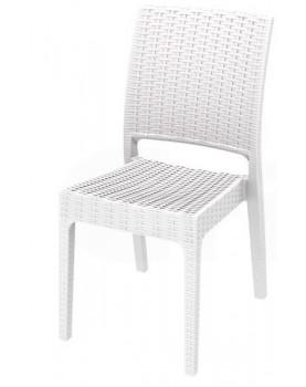 Стол ратан без подлакътник FLORIDA - бял