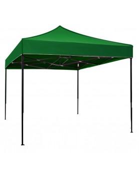 Сгъваема метална шатра 3x3m - зелена