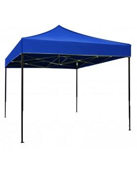 Сгъваема метална шатра 3x3m - синя