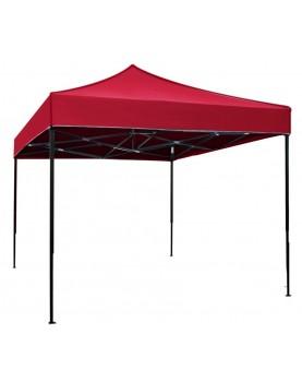 Сгъваема метална шатра 3x3m - червена