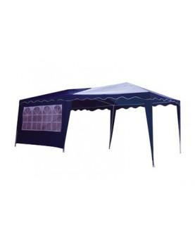 Градинска шатра - 3х6m с 3 страни нйлон - синя