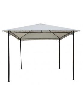 Градинска шатра с черна рамка 3м - бежов плат