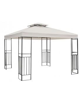 Градинска шатра с черна рамка 3м - бежов плат (CSG1503)