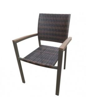 Ратанов стол AM-3009 кафяв
