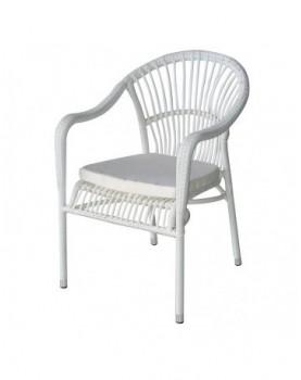 Стол 361 с възглавничка - бял