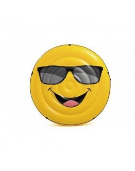 Intex - Надуваем остров Емотиконка с очила