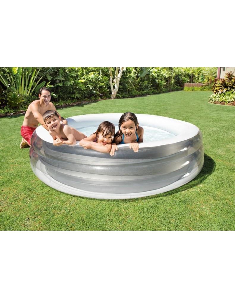 Intex - Басейн надуваем кръгъл Family - 229 х 51 см