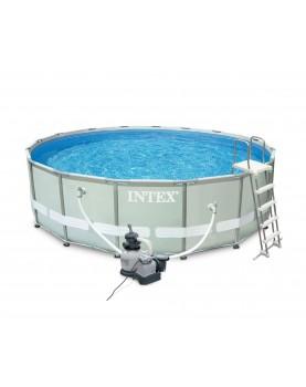 Intex - Сглобяем басейн с филтърна помпа Ultra Frame 488 х 122 см.