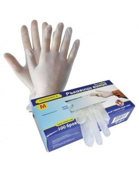 Ръкавици - винил без пудра, размер M 100бр